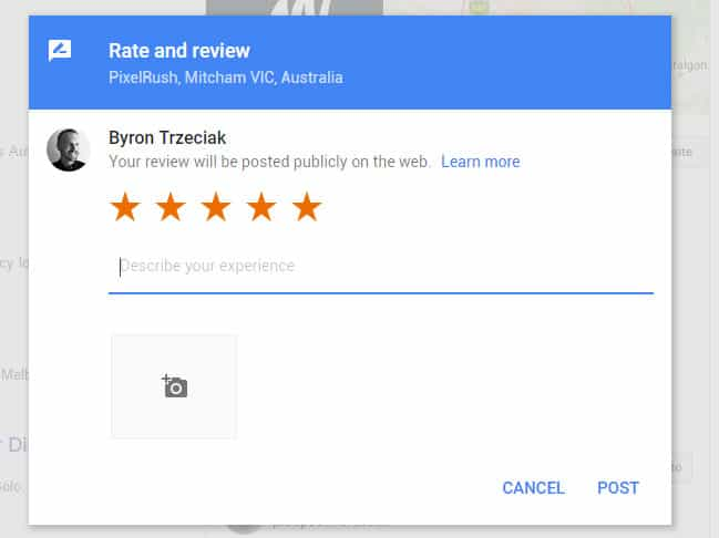 5 star Google My Business Reviews