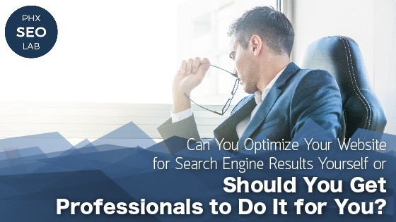 Can You Optimize Your Website for Search Engine Results Yourself or Should You Get Professionals to Do It for You?